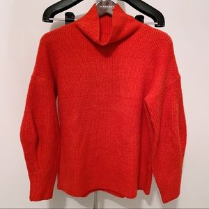 French Connection Turtle Neck Chunky Sweater